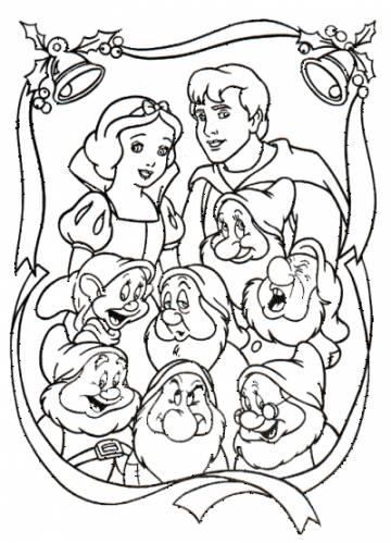 И семь гномов белоснежка принц и гномы